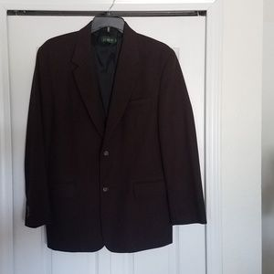 J. Crew Chocolate Brown Wool Sport Coat Blazer 42R
